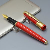 Высокое качество Picasso красный металлический фонтан Pen Office канцелярские каллиграфии продвижение леди чернил ручки для подарка на день рождения