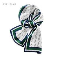 Foulard cheveux designer natural silk long scarf for working women ribbon fashion neckerchief headscarf bandana warp girls gift X0722