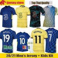 21 22 Chelsea Soccer Jerseys MOUNT WERNER 2021 2022 JORGINHO PULISIC ABRAHAM Football Shirt KANTE HAVERTZ CHILWELL ZIYECH Men jerseys Kids Kit