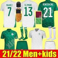 21 22 Erkek Çocuk Kiti Hommes Cezayir Futbol Formaları Maillot De Futbol Kimi 2021 Eve Mahrez Brahimi Bennacer 2 Étoiles Algérie Üniforme