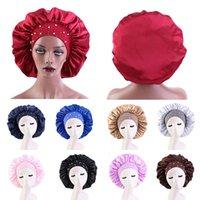 Newly Women's Satin Solid Sleeping Hat Night Sleep Cap Hair Care Bonnet Nightcap For Women Men Unisex Cap bonnet de nuit