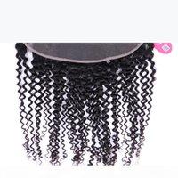 Queen Hair Products Jungfrau Menschliches Haar Spitze Frontalverschluss 13x4 verworrene lockige 10-20inch Spitze Frontal Verschluss Ohr zu Ohrgewebe Schneller Versand