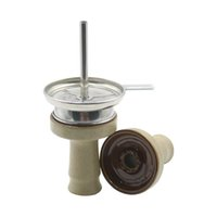 Cachimba ceramic bowl set with carbon canister, pipe filter screen, accessories, 1