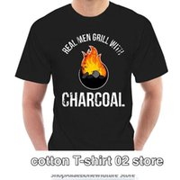 Men's T-Shirts T Shirt 2021 Fashion Man Real Men Grill With Charcoal Funny Grilling Bbq Barbecue T-shirt Brand Clothing 2579Y