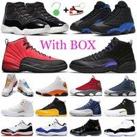Avec boîte basketball chaussures 11s Jubilee 13S hyper royal rouge flint 12s sombre concorde inverse grippe jeu femmes hommes formateurs sport chaussures de sport