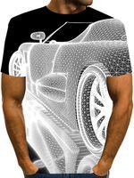 2021 Carro 3D Imprimir camisetas Homens Verão Oversized Casual Streetwear Cosplay Traje T Camiseta Forma Harajuku Tees Tops Unisex Roupas