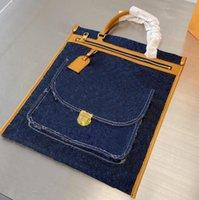 Denim Canvas Handtaschen Top Qualität Designer Classic Marke Shopping Taschen Frauen Handtasche Totes Mode Patchwork Farbe