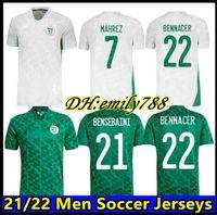 Вентиляторы игрока версия Algerie 2021 Home Away Soccer Jerseys Mahrez Feghouli Bennacer Atal 20 21 Алжир Футбольные наборы для футболов Мужчины + дети устанавливают Maillot de op