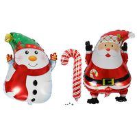 New Cute Cartoon Christmas Snowman Santa Claus Aluminum Foil Balloons Christmas Decorations HHB10505