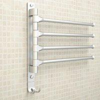Европейское космическое алюминиевое полотенце стойки 4/3/2 висит оружия с крючками ванная комната подвижные батончики стеллажи