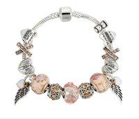 Pandora Strands bracelet DIY angel wings pendant crystal beaded ornaments wholesale
