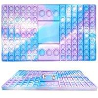New Party Fingertip Tabletop Interaktivt pussel för vuxna och barn Stress Relief Tie-Dye Sensory Education Toy