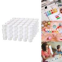 Tiras vazias tinta copo potenciômetros de armazenamento claros pintura artes artesanato suprimentos 144 em conjuntos de presente total