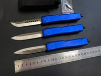 High quality MICR UT85 UT88 Automatic knife folding M390 Blade blue Aluminum HandleTactical gear Survival Outdoor Defense Pocket