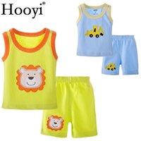 Bébé garçon vêtements ensembles lion digger dessin animé vêtements nouveau-né costume t-shirts sans manches culottes 0-3 ans bébé Débardeur 610413
