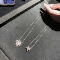 New Unique Luxury Real 925 Sterling Silver Water Drop White Topaz CZ Diamond Flower Pendant Women DFF3453