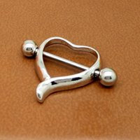 Cerrahi Çelik Aşk Kalp Meme Kalkanı Bar Yüzük Vücut Piercing Takı Yeni 679 T2