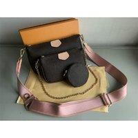 3pieces Set High Qulity Designer Handbags Multi Pochette Accesorios Crossbody Fashion Bolso Bolso Hombro Hombro Monedero HOBO