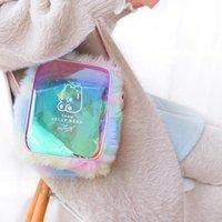 Талия Сумки Gummy Bears Лазерная сумка на плечо мягкая девушка студенты прозрачные плечо радуга Mao Rong Bao сумочка