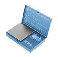 Digital Pocket Scale Red Blue 700g 0.1g Jewelry Gold Tobacco Stash Weight Measurement Device Flip Cap Household with Batteries SN2408