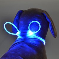 Pet Safety LED Harness Flashing Light Dog Leash Rope Belt Collar Vest Supplies Collars & Leashes