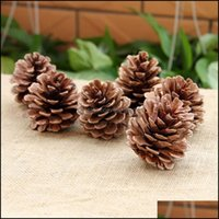 Christmas Festive Supplies & Gardenchristmas Decorations 10Pcs Set Wood Pinecone Balls For Home Office Party Decoration Ornament Tree Hangin