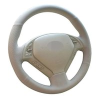 Car Steering Wheel Cover Hand-Stitched Beige Artificial Leather For Infiniti G25 G35 G37 QX50 EX25 EX35 EX37 2008-2013 Covers