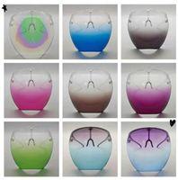 DHL Gradient Color Protective Faceshield Máscara con marco de vidrios Transparente Cubierta de cara completa Anti-niebla Face Shield Borde Designer Máscaras CPA2735