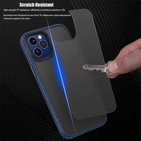 Luxury Original Skin Matte Phone Cases For iPhone 12 Pro Max Mini 11 Anti-knock Metal Button Protective Cove
