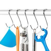 Aço inoxidável prático para pendurar roupas ganchos s forma fwd9328