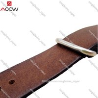 2022 Individuality AOOW Leather Watchband NATO Band Strap 18mm 20mm 22mm for Men Women Watch Accessories Sliver Ring Buckle Replacement Watches