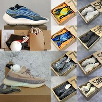 V2 새로운 카니 예 웨스트 V3 Azael Alvah 700 병원 정적 자석 파도 주자 실행 신발 (500) 블랙 뼈 오레오 아스 리엘 스포츠 운동화와 상자