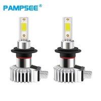 PAMPSEE 2Pcs Mini Car Headlight Bulbs LED Lamp H4 H7 H11 H8 H9 9006 HB4 H1 9005 HB3 12000LM Auto Fog Lights 1200K