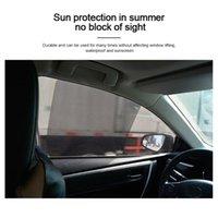 4pcs Set Car Curtain Windshield Stickers Electrostatic Adsorption Sun Shade Sunshade