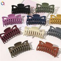 Clip à griffe vintage pour cheveux coloré couleur solide 12cm grosse pince griffe filles coiffure clip cheveux headwear accessoires de cheveux 1825 Q2
