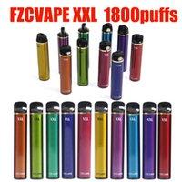 Authentic Fzcvape XXL E-sigarette e-sigarette monouso Dispositivo POD 1800Puffs 1000mAh 5ml Cartuccia precompilata Penna per bastone vape VS Bang Plus max 100% originale