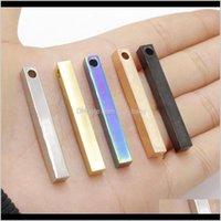 10 adetgrup Kazımlı Bar Tag ayna Cilalı Paslanmaz Çelik Boş Rec Charms DIY Kolye Bilezik Takı Yapımı Için U4D4A KU3T9