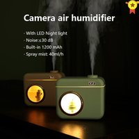 Humidifiers 400ml Camera Air Humidifier Diffuser USB Portable Aroma For Home Office Plant Moisturizing Umidificador