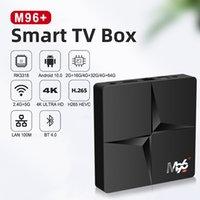 Android 10.0 Quad-Core TV Caixa 4K Smart Media Player 4GB RAM 32GB Rom M96 Set Top Box BT4.0 2.4G 5G WiFi HDMI2.0 100m 2GB 16GB para DHL