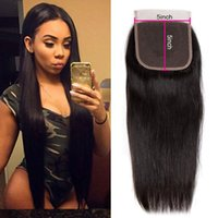 5x5 Straight Body Wave Human Virgin Hair Transparent Lace Closures Pre Plucked Natural Hairline