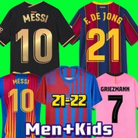 Barcelona Jersey Jersey Barca 21 22 Camiseta de Futbol Ansu Fati 2021 2022 Messi Griezmann F.De Jong Maillots de Football Shirt Kit Kids Kit