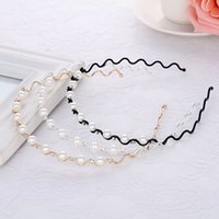 Fashion Crystal Rhinestone Hairband For Women Girls Pearls Crown Headband Bridal Wedding Tiara Hair Accessories