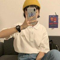 T-shirt Femmes Harajuku Simple Broderie Designer Hipster Loose Loable Grande Taille 2XL Étudiante Kawaii Girl Tunique Top Sum Quotidien T-shirts TRENDY FEMMES TRANDS