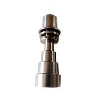 2021 10 мм 14 мм 19 мм 6 в 1 Дымовые электрические титановые ногти мужской женский курительный гвоздь Ti с карбную крышку для стекла бонг