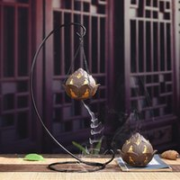 Backflow Incense Burner Zen Iron Coil Holder Indoor Home Cre...