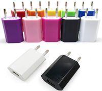 Universal EU USA Fettwandadapterstecker USB Home Reise Ladegerät Power Cube 1A E Zigarre für Mobile Smartphone 4s 5s Android S3 S4 S5 Note 3