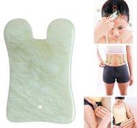 Natürliche Jade Stein Guasha Gua Sha Board Quadratische Form Massage Hand Massager Entspannung Gesundheit Pflege Schönheit Werkzeug