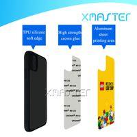 TPU + PC Blank 2D Sublimation Transfer Transfer Custodie per telefono con inserti in alluminio per iPhone 12 Pro Max 11 XR 8 Plus Samsung S21 Ultra Xmaster
