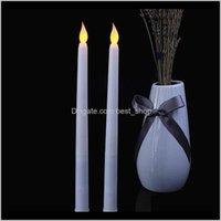 Mumlar led ışık mum lambası alevsiz simülasyon uzun kutup elektronik uzaktan kumanda çubuk balmumu lambaları düğün süslemeleri 4 5jz n2 99d2 nenko