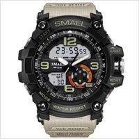 Erkekler Tırmanma Spor Dijital Saatı Büyük Arama Askeri Ordu Saatler G Alarm Şok Dayanıklı Su Geçirmez İzle 7591